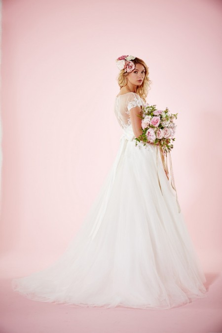 Picture of Back of Lydia Wedding Dress with Skirt - Charlotte Balbier Willa Rose 2016 Bridal Collection
