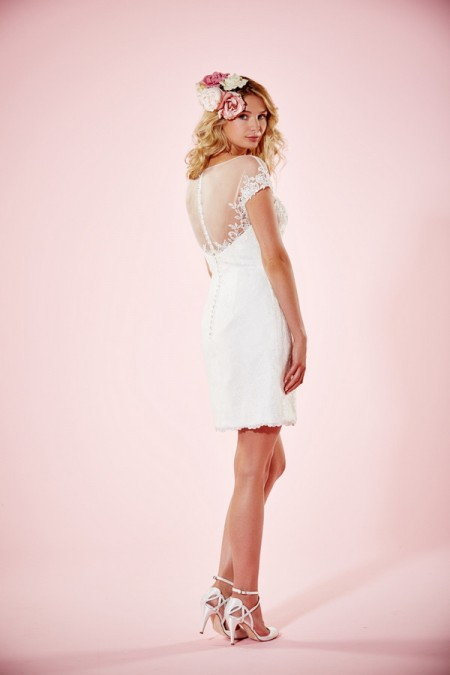 Picture of Back of Lydia Wedding Dress without Skirt - Charlotte Balbier Willa Rose 2016 Bridal Collection