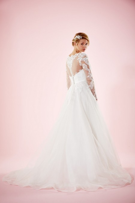 Picture of Back of Marguerite Wedding Dress - Charlotte Balbier Willa Rose 2016 Bridal Collection