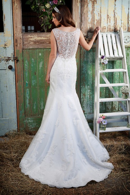 Picture of Back of Mariah Wedding Dress - Amanda Wyatt Promises of Love 2016 Bridal Collection
