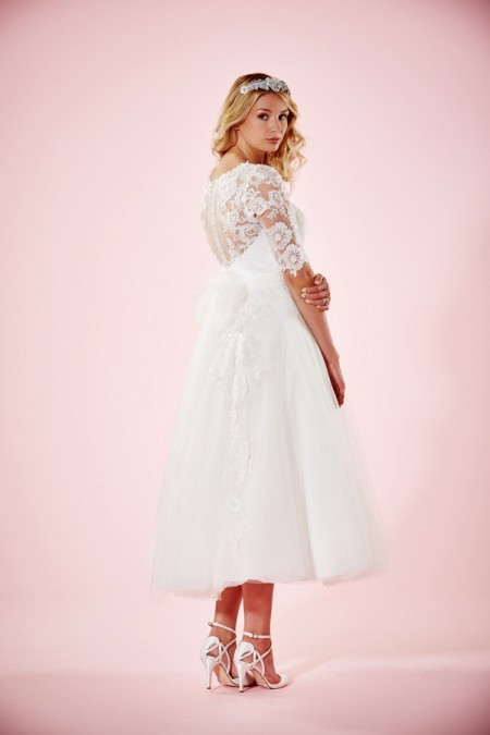 Picture of Back of Marie Wedding Dress - Charlotte Balbier Willa Rose 2016 Bridal Collection