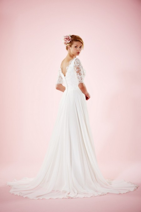 Picture of Back of Maud Wedding Dress - Charlotte Balbier Willa Rose 2016 Bridal Collection