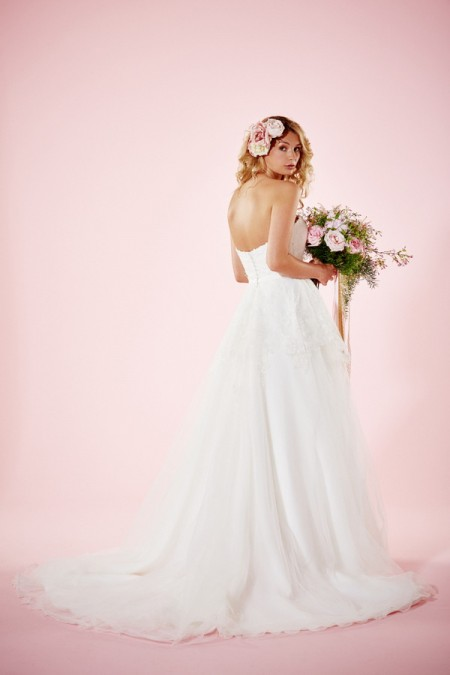 Picture of Back of Melissa Wedding Dress - Charlotte Balbier Willa Rose 2016 Bridal Collection