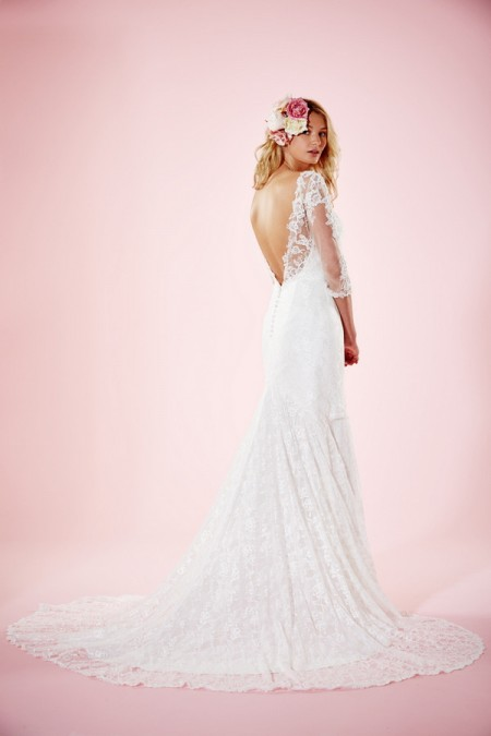 Picture of Back of Orla Wedding Dress - Charlotte Balbier Willa Rose 2016 Bridal Collection