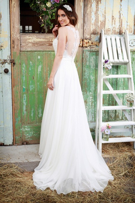 Picture of Back of Promise Wedding Dress - Amanda Wyatt Promises of Love 2016 Bridal Collection