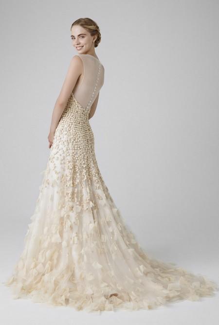 Picture of Back of Rose Wedding Dress - Peter Langner 2016 Bridal Collection