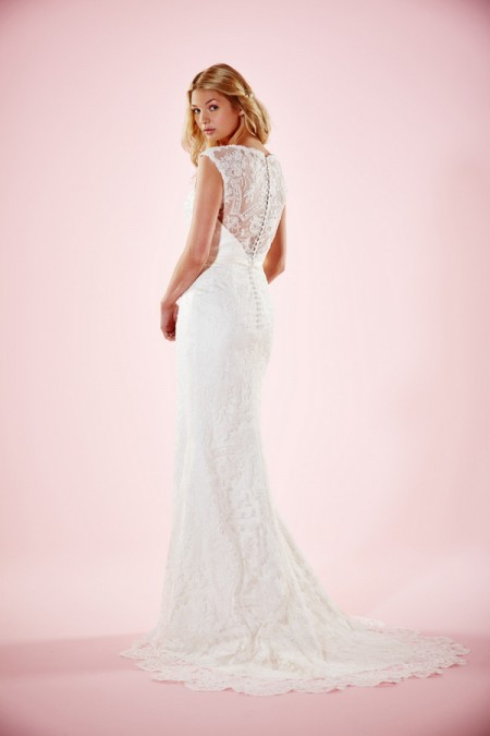 Picture of Back of Samantha Wedding Dress - Charlotte Balbier Willa Rose 2016 Bridal Collection