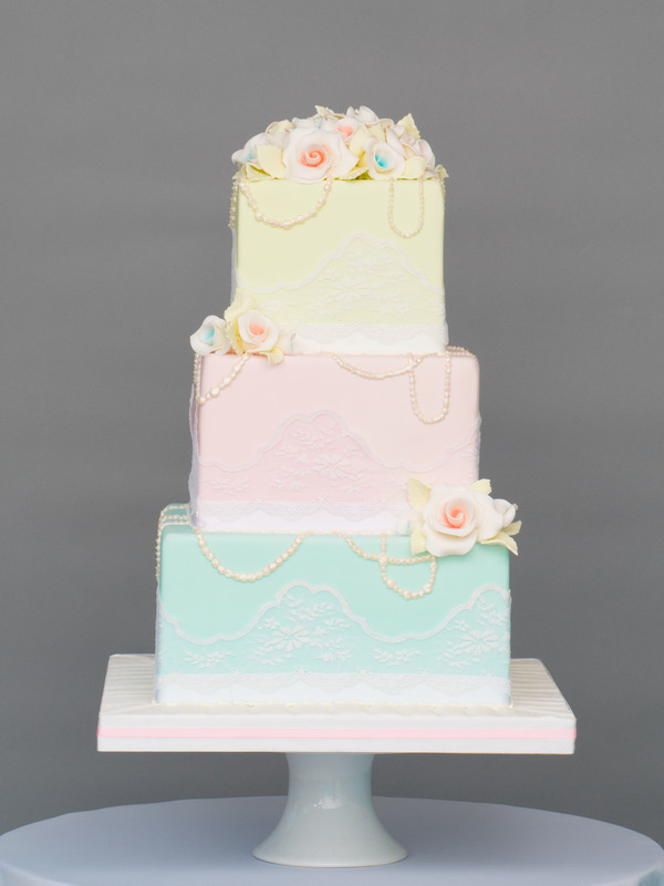 Spring Love Wedding Cake from Seasons of Sugar Collection by GC Couture