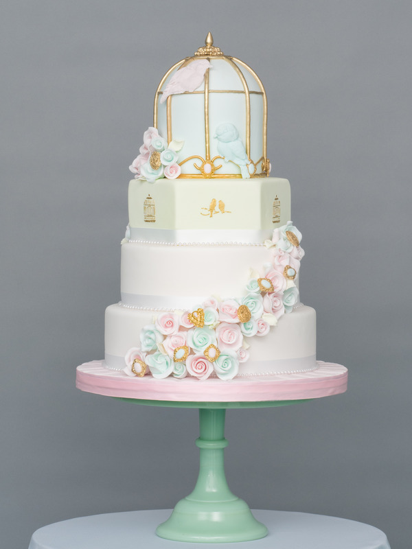 Springtime Sweethearts Wedding Cake from Seasons of Sugar Collection by GC Couture