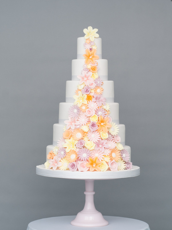 Summer Passion Wedding Cake from Seasons of Sugar Collection by GC Couture