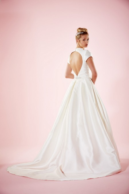 Picture of Back of Tarron Wedding Dress - Charlotte Balbier Willa Rose 2016 Bridal Collection