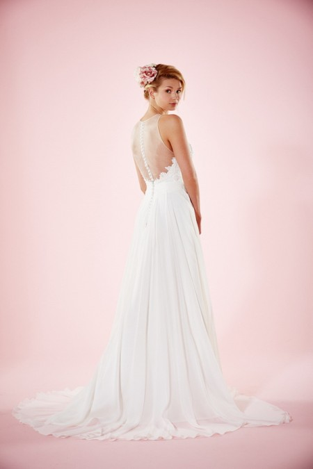 Picture of Back of Willa Rose Wedding Dress - Charlotte Balbier Willa Rose 2016 Bridal Collection