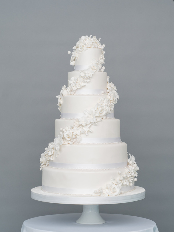 Winter Romance Wedding Cake from Seasons of Sugar Collection by GC Couture