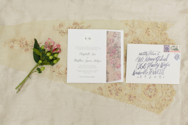Elegant wedding stationery with script style lettering
