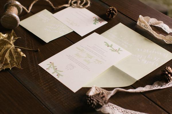 Christmas wedding stationery