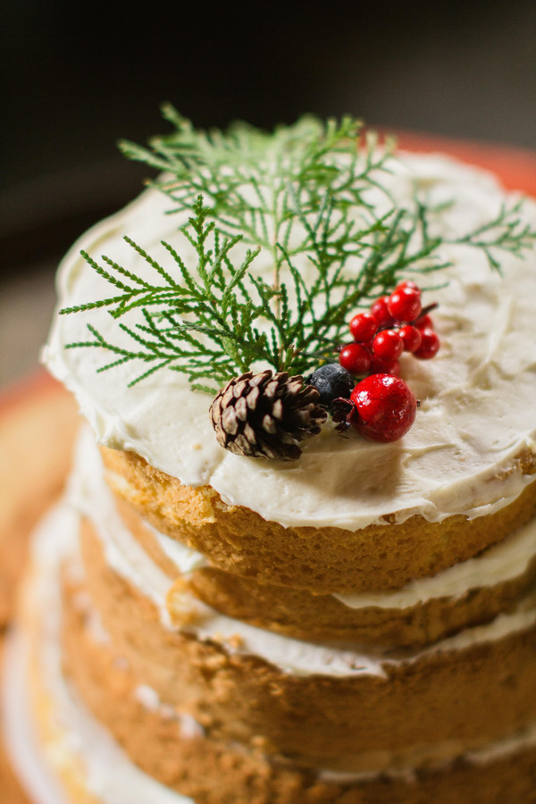 Christmas wedding cake topper