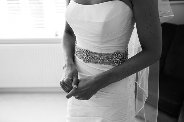 Bride's bridal belt