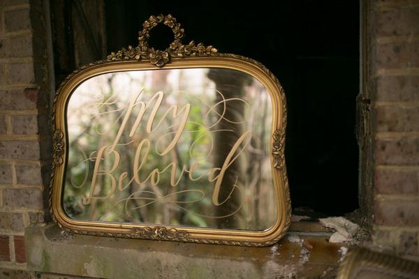 My Beloved written on mirror