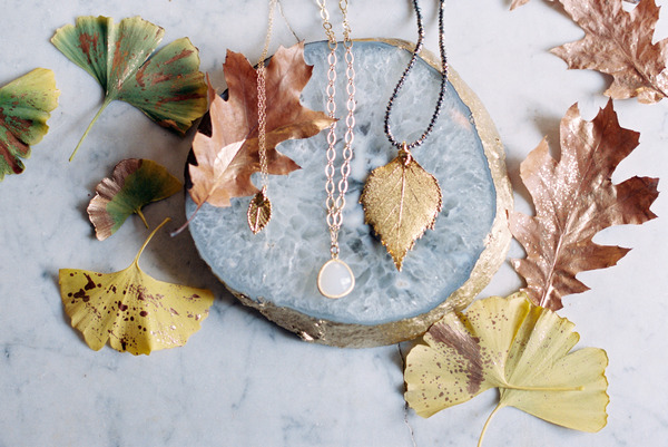 Leaves and wedding jewellery