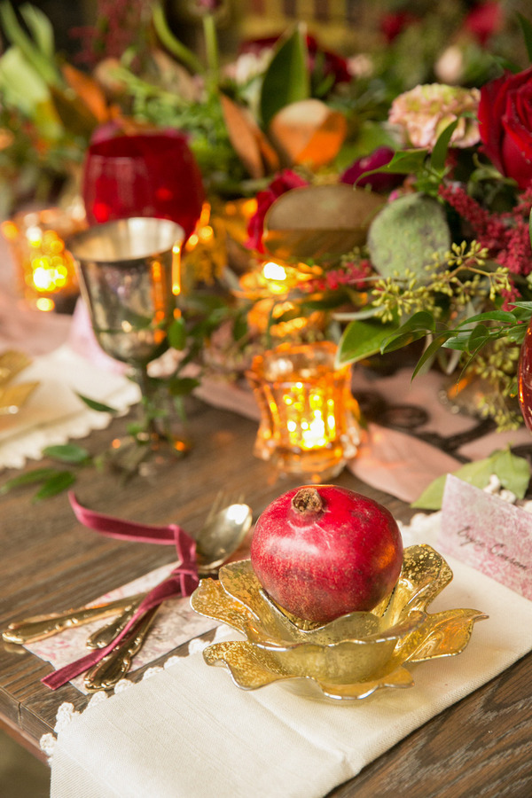Pomegranate on wedding table