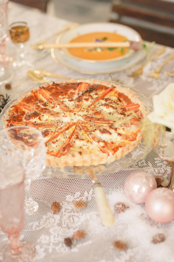 Quiche on wedding table
