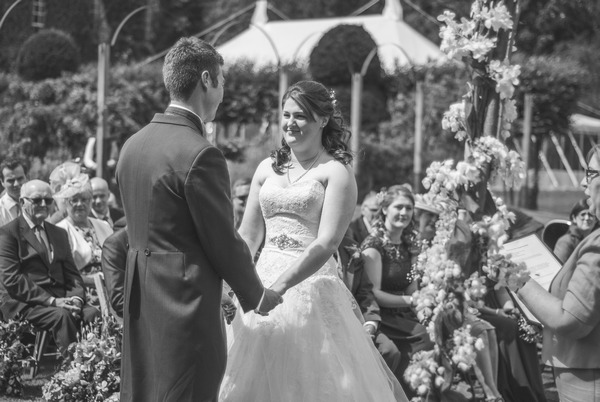 Wedding ceremony at Narborough Hall Gardens