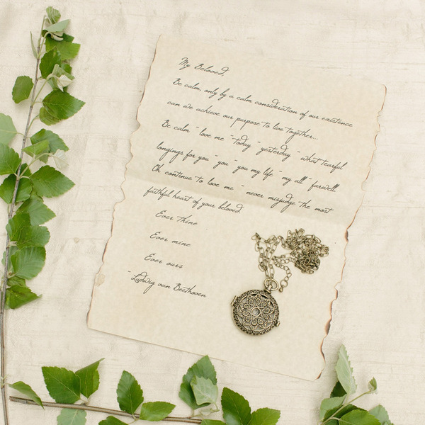 Beethoven love letter from wedding shoot