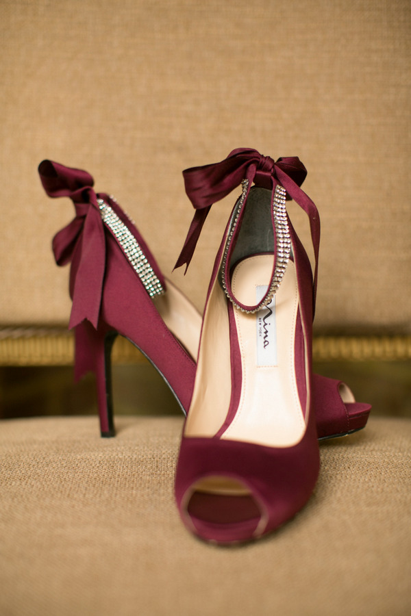 Marsala coloured wedding shoes