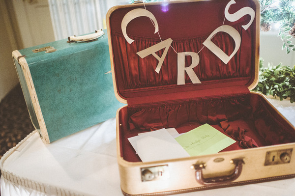 Suitcase for wedding cards