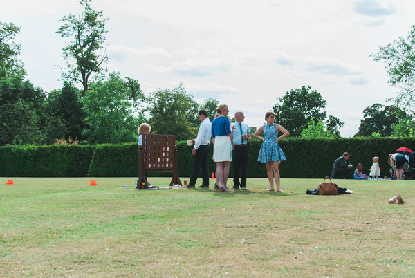 Lawn games at Narborough Hall Gardens
