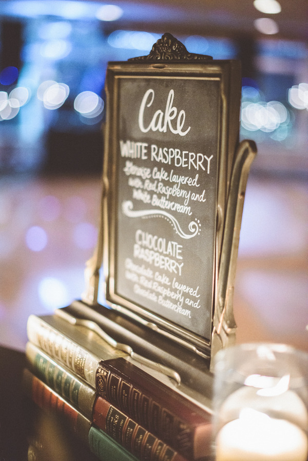 Wedding cake sign