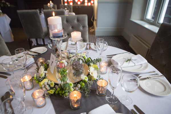 City chic wedding table styling