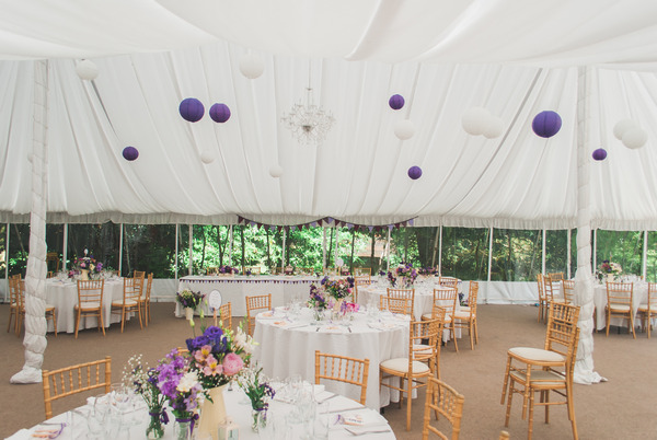Narborough Hall Gardens wedding marquee