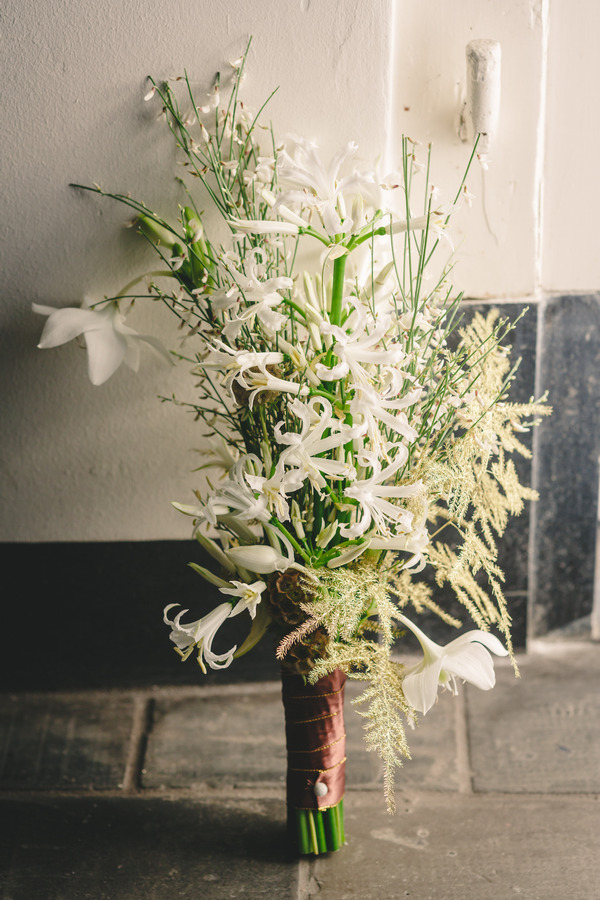 Tall bridal bouquet