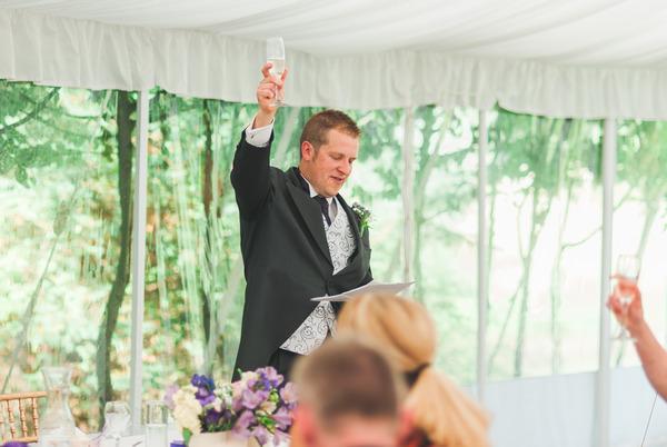 Best man raising toast