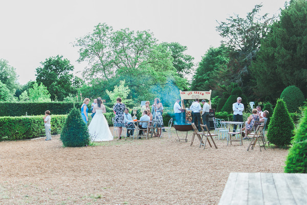 Wedding reception barbecue at Narborough Hall Gardens