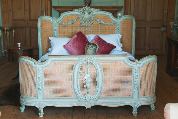 Bed in room at Narborough Hall