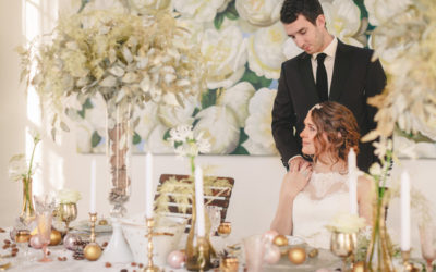 Gold and Blush Pink Winter Wedding Styling