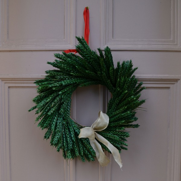 Green Wheat Christmas Wreath from Shropshire Petals
