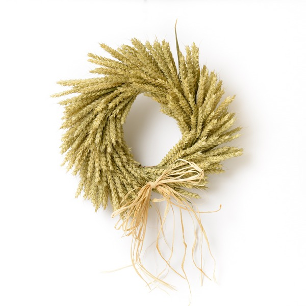 Plain Wheat Wreath from Shropshire Petals