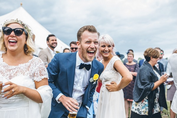 Groom laughing at wedding - Picture by Sarah Janes Photography