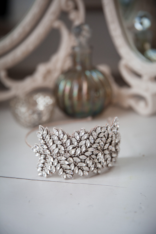 Leaf bridal headband