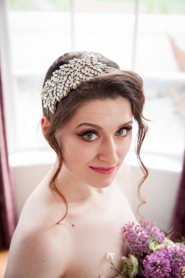 Bride with headband