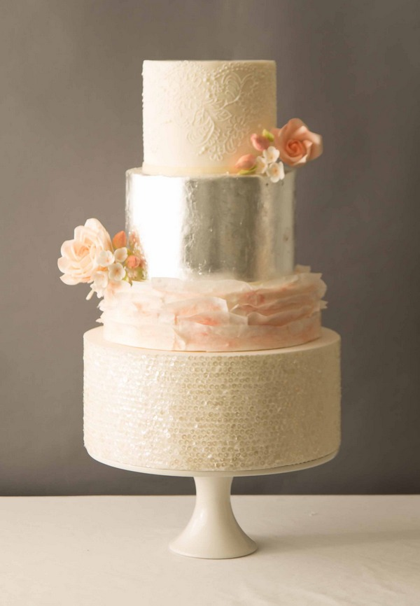 Beatrice metallic wedding cake 2016 by The Abigail Bloom Cake Company