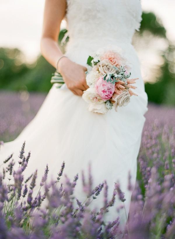 Bride's pastel bouquet