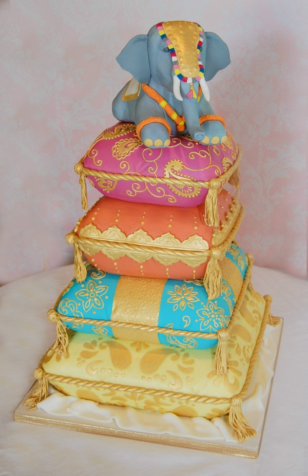 Indian Elephant Cake - Tiers of Happiness