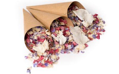 New Confetti Cones from Shropshire Petals