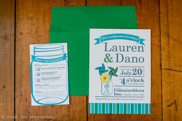 Wedding stationery with pinwheel styling