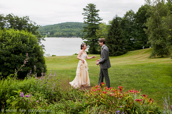 Wedding first look by Finger Lakes