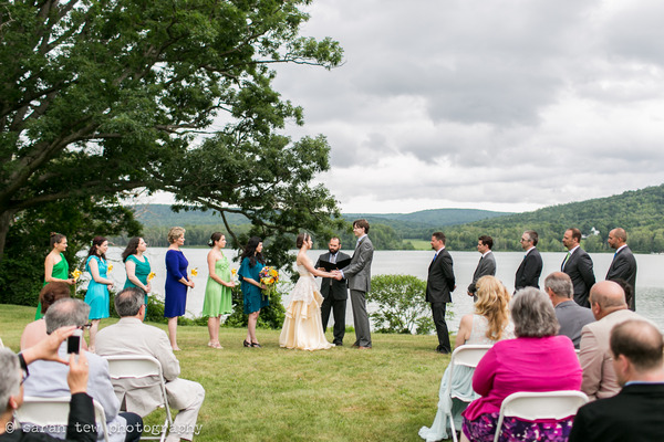 Wedding ceremony by Finger Lakes